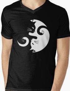 Yin Yang Cats Mens V-Neck T-Shirt