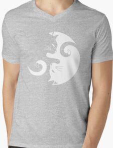 Yin Yang Cats Mens V-Neck T-Shirt