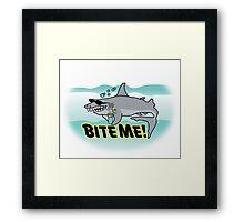 Bite Me Framed Print