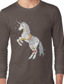 Mandala Unicorn Long Sleeve T-Shirt
