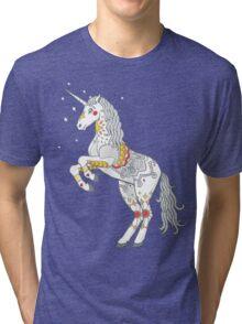 Mandala Unicorn Tri-blend T-Shirt