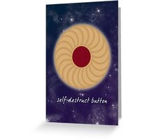 Doctor Who - Self-Destruct Button Greeting Card