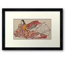 Murasaki Shikibu - author of The Tale of Genji Framed Print