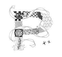 Zentangle®-Inspired Art - Tangled Alphabet - P Photographic Print