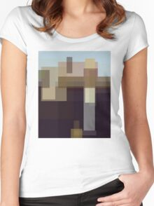 Wood: American Gothic (computer-generated abstract version) Women's Fitted Scoop T-Shirt