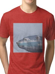 Polar bear and ice Tri-blend T-Shirt