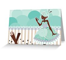 Ice Cream Princesses - Mint Chocolate Chip Greeting Card