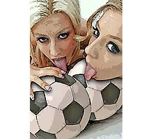 Blessed are the ball-lickers Photographic Print