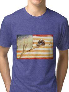 American Bald Eagle Salute Tri-blend T-Shirt