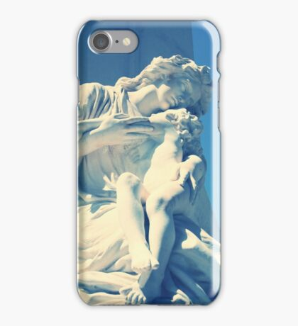 Statue angel and child on the tomb iPhone Case/Skin
