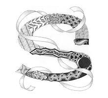 Zentangle®-Inspired Art - Tangled Alphabet - S Photographic Print