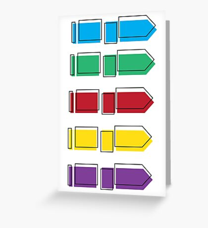 Colourful Arrow Print Greeting Card