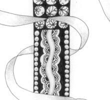 Zentangle®-Inspired Art - Tangled Alphabet - T Sticker