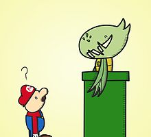 Mario and Carnivine by William Trewartha-Jones