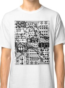 analog synthesizer modular system - black and white illustration Classic T-Shirt