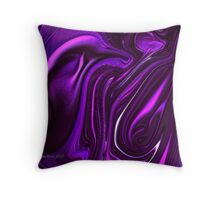 Folds of purple throw pillow Throw Pillow