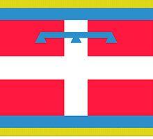 Flag of Piedmont Region of Italy  by abbeyz71