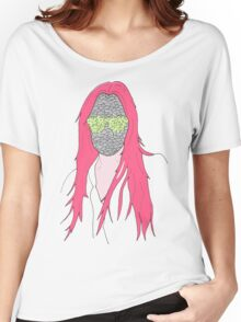 mistery mask girl Women's Relaxed Fit T-Shirt