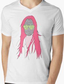 mistery mask girl Mens V-Neck T-Shirt