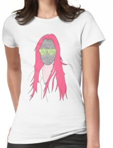 mistery mask girl Womens Fitted T-Shirt