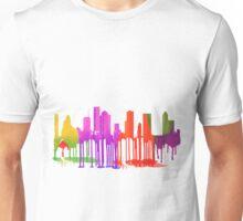 Houston, Texas Skyline Puddles Unisex T-Shirt
