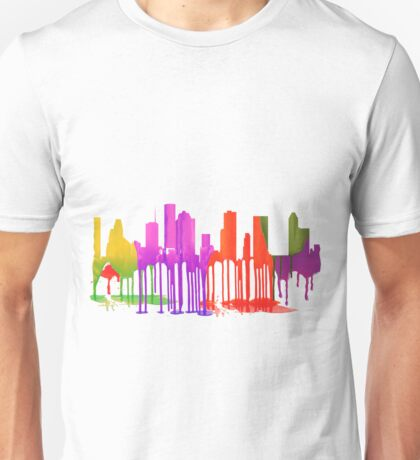 Houston, Texas Skyline Puddles Unisex T-Shirt
