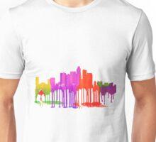 Los Angeles, California Skyline - Puddles Unisex T-Shirt