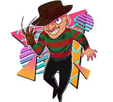 80s Horror Icons- Freddy Krueger by spookdoodles