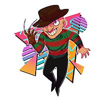 80s Horror Icons- Freddy Krueger Photographic Print
