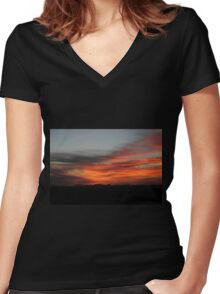 Alberta Sunrise Women's Fitted V-Neck T-Shirt