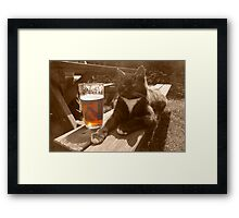 Puss and Bitter  Framed Print