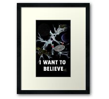 I Want to Believe in Sci-Fi Framed Print