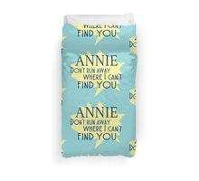 Annie Lyrics Highlight Duvet Cover
