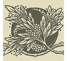 Floral Damask Antique Pattern Art Nouveau  Photographic Print