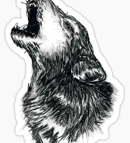 Wolf Sketch Sticker