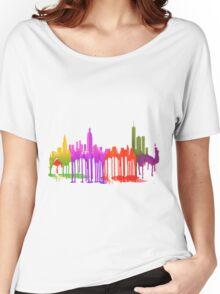 New York City, New York skyline - Puddles Women's Relaxed Fit T-Shirt