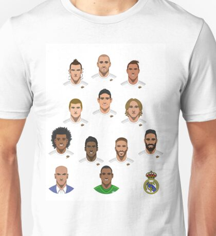 Real Madrid Squad 2015 Unisex T-Shirt