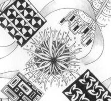 Zentangle®-Inspired Art - Tangled Alphabet - X Sticker