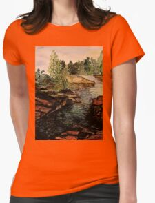 Rocky Stream - Back to Nature Womens Fitted T-Shirt