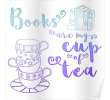 (Blue) Books are My Cup of Tea Poster