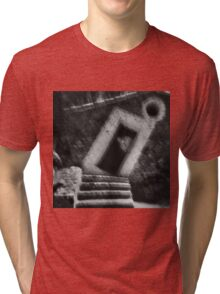 Abstract balance between man and architecture Tri-blend T-Shirt