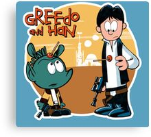 """Greedo & Han"" Canvas Print"