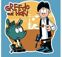 """Greedo & Han"" Photographic Print"