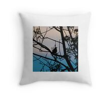 Watching for the Storm Throw Pillow