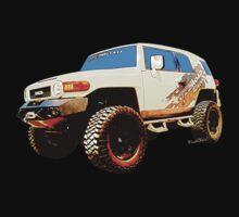Toyota FJ Cruiser 4x4 Cartoon Panel from VivaChas One Piece - Short Sleeve