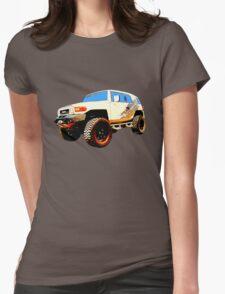 Toyota FJ Cruiser 4x4 Cartoon Panel from VivaChas Womens Fitted T-Shirt