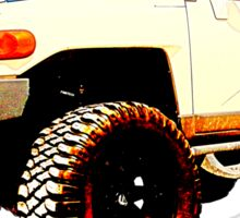 Toyota FJ Cruiser 4x4 Cartoon Panel from VivaChas Sticker