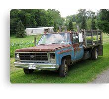 Old Farm Truck Canvas Print