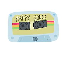 cassette tape - [happy songs] by lilstickers