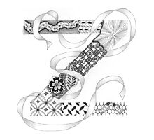 Zentangle®-Inspired Art - Tangled Alphabet - Z Photographic Print